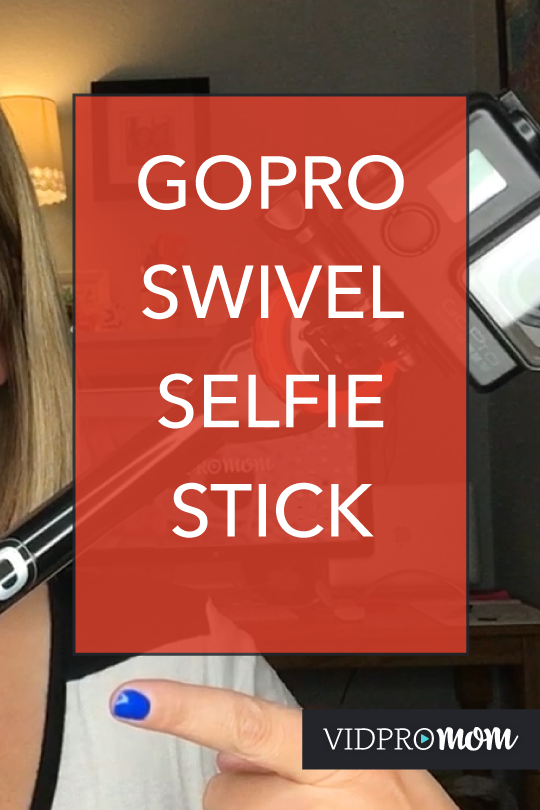 This is the coolest selfie stick or GoPro pole I've ever seen: GoPro swivel mount! The Spivo Stick has a rotating mount and a trigger, and it's super fun.