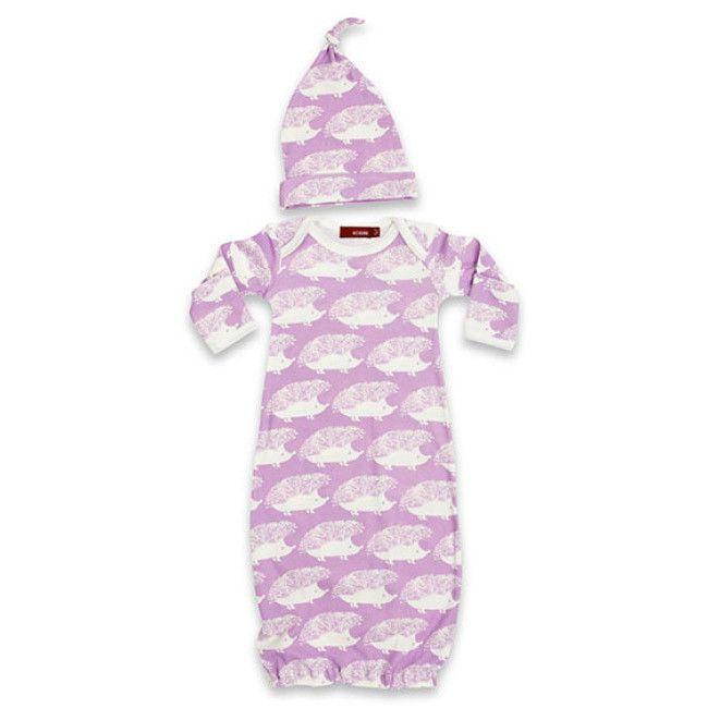 Milkbarn | Newborn Gown & Hat Set | Milkbarn | Pinterest | Products