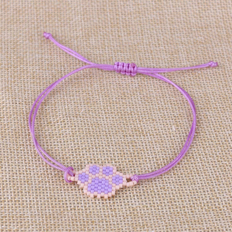 Kelitch lovely dog footprints friendship bracelet handmade bangle