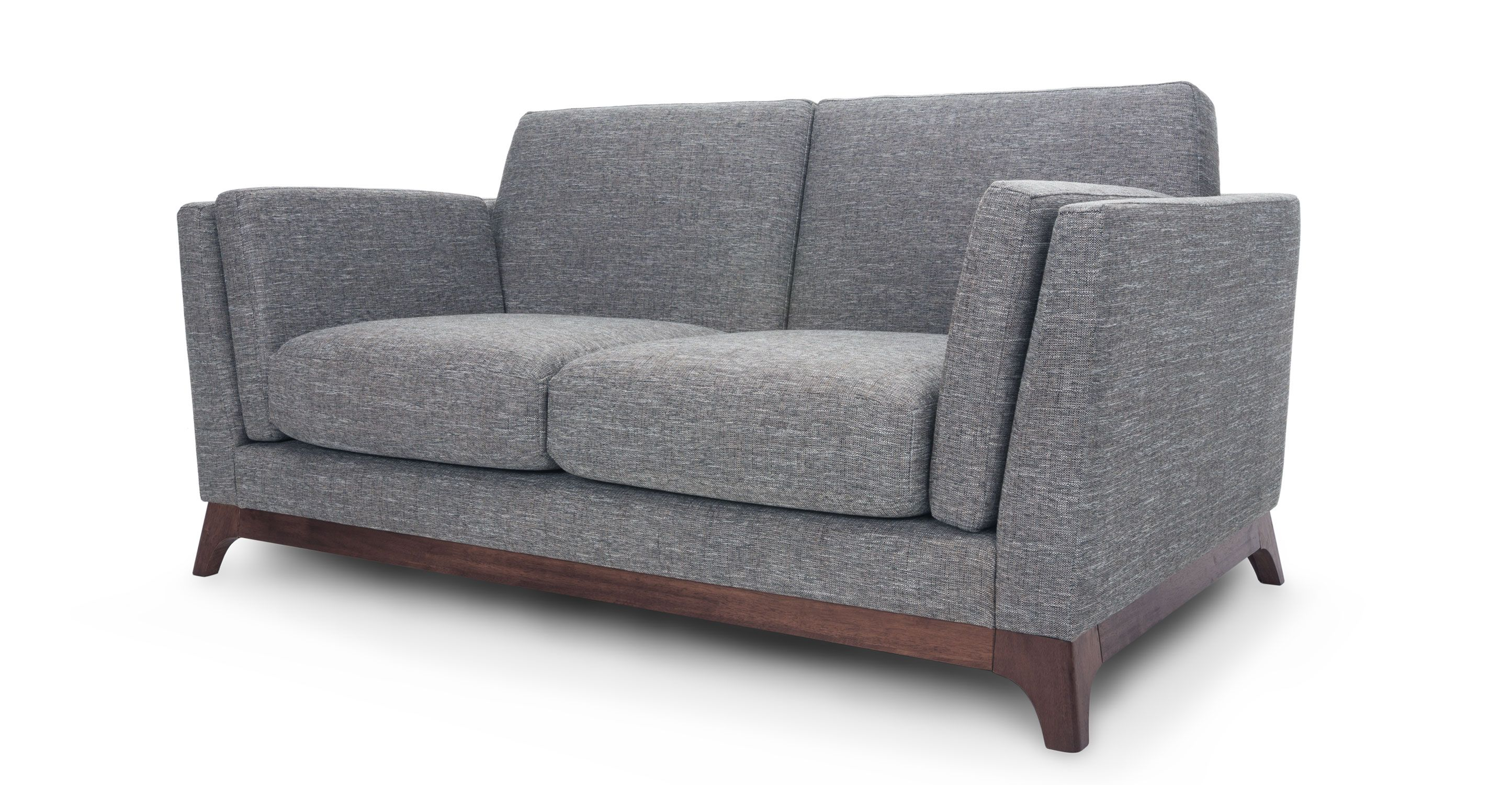 Ceni Coral Gray Loveseat - Loveseats - Bryght | Modern, Mid-Century and Scandinavian Furniture