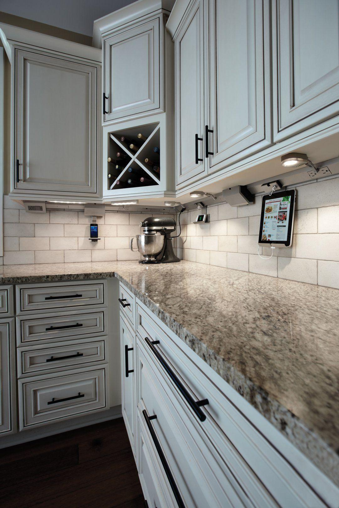 Shop 18 Inch Modular Track By Legrand Adorne Led Linear Light By Legrand Adorne Mobile Phone Cradle By Upper Kitchen Cabinets Kitchen Design Kitchen Remodel