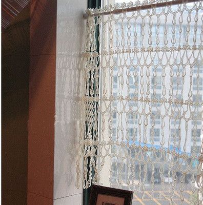 It is crochet curtain, so elegant