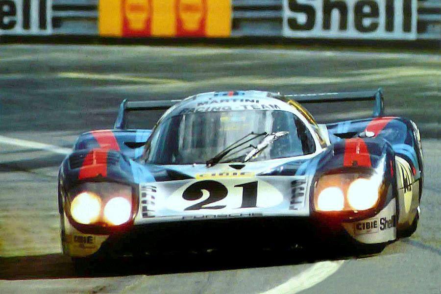 Vic Elford / Gérard Larousse (Martini Porsche 917 LH) 24 Heures du Mans 1971 - source Carros e Pilotos.