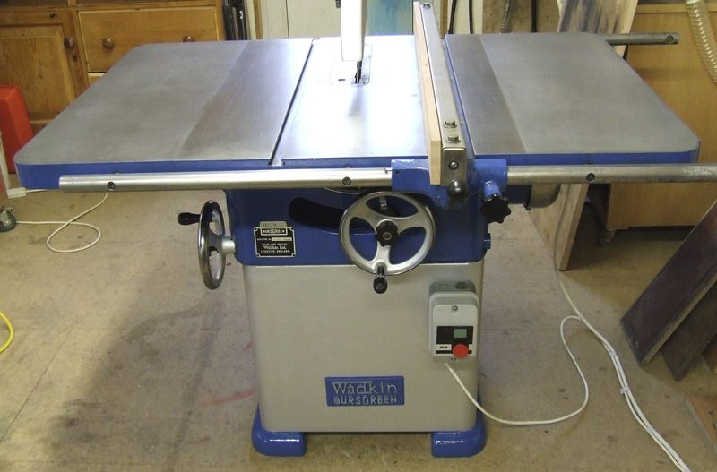 Wadkin Bursgreen 12ags Table Saw Table Saw Woodworking Shop Table