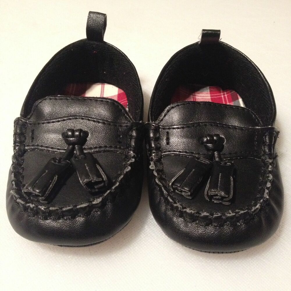 Gymboree Baby Boy Black Tassel Loafers