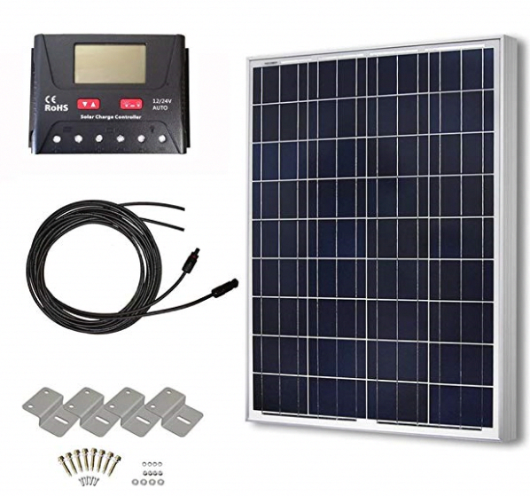 Hqst 100 Watts 12 Volts Polycrystalline Solar Panel Off Grid Rv And Boat Kit The Dhqst 100 Watts 12 Volts Poly In 2020 Solar Panels Solar Power House Best Solar Panels