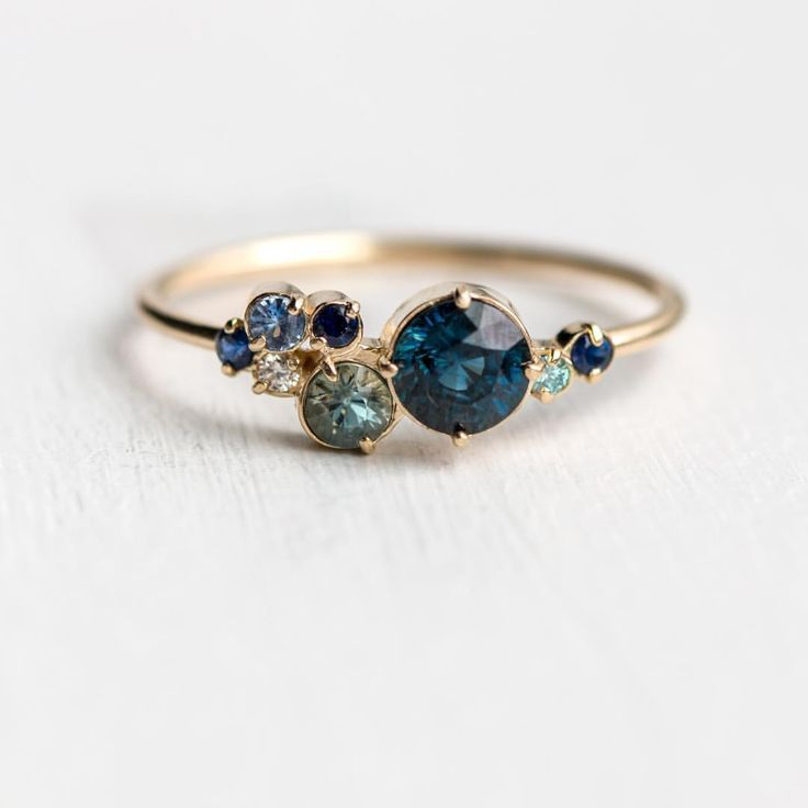 "Photo of Melanie Casey • Fine Jewelry on Instagram: ""New blue sapphire Indie ring, just released! Limited edition and available now at melaniecasey.com"""