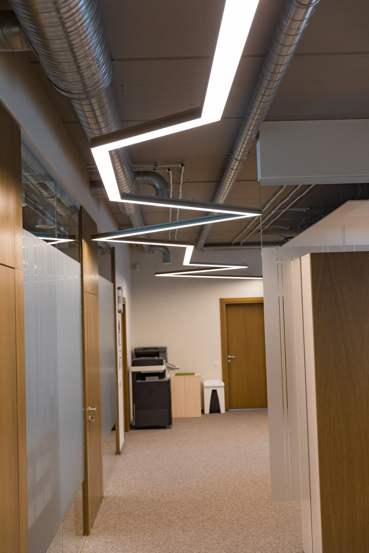 Linear pendant lighting corridor design also led lights tarak gajjar pinterest rh