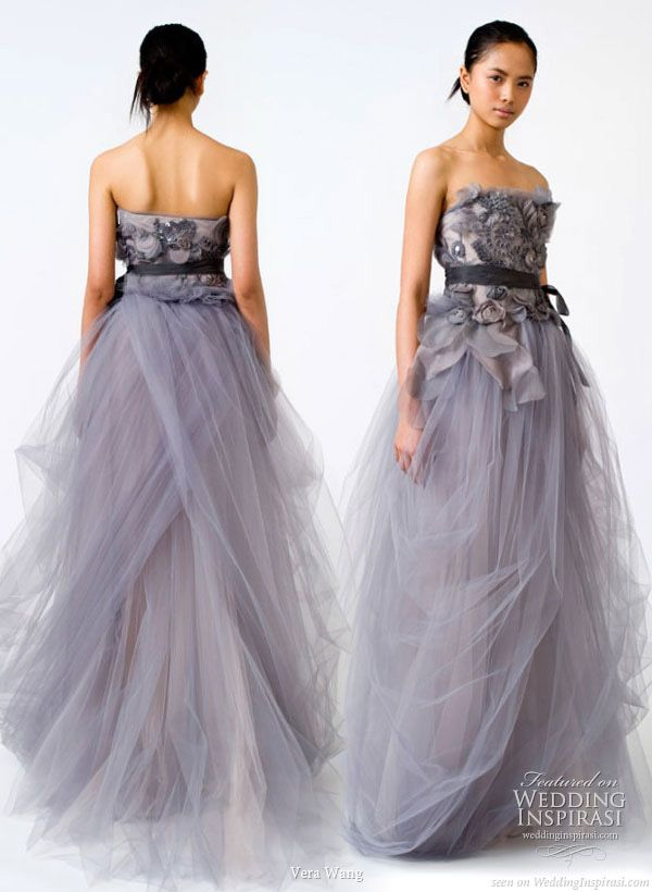 Vera Wang Spring 2011 Wedding Gowns Colored