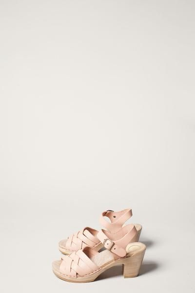 537fa4e96a65 No.6 Huarache Clog on High Heel in Naked