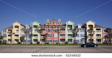 Colorful apartments (condo) by GSPhotography, via Shutterstock