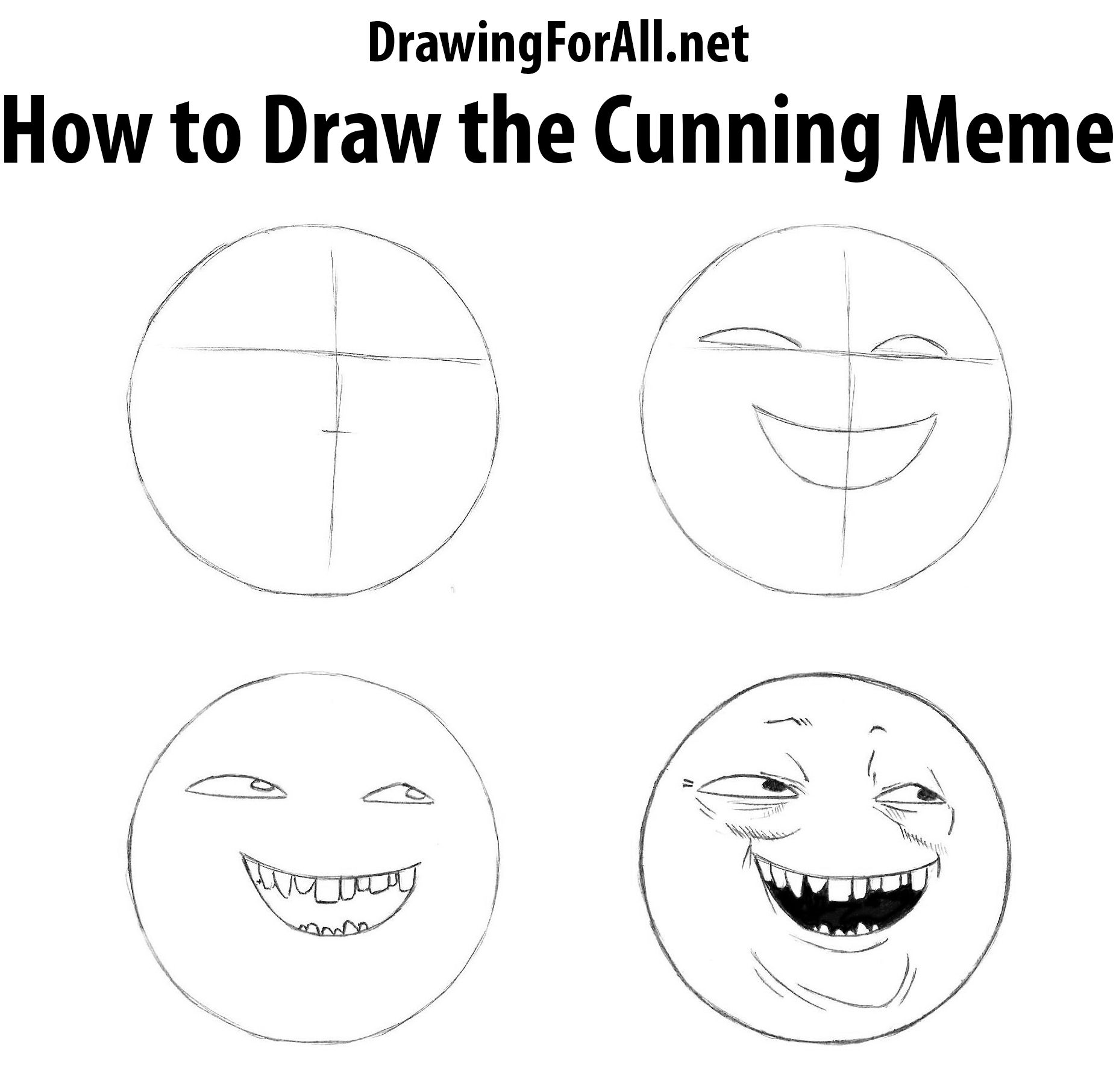 How To Draw The Cunning Meme Drawings Draw Memes