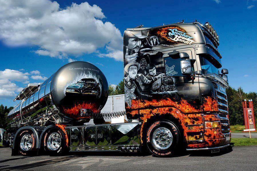 Scania with a very smart paint job Trucks, Big trucks