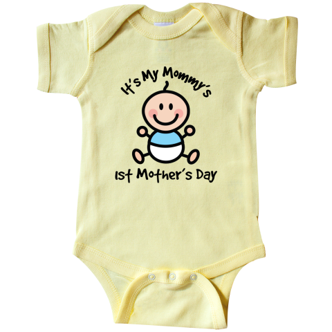 92befc627cf9 Baby s  1st  Mother s  Day Infant Creeper has  cute  stick  figure ...