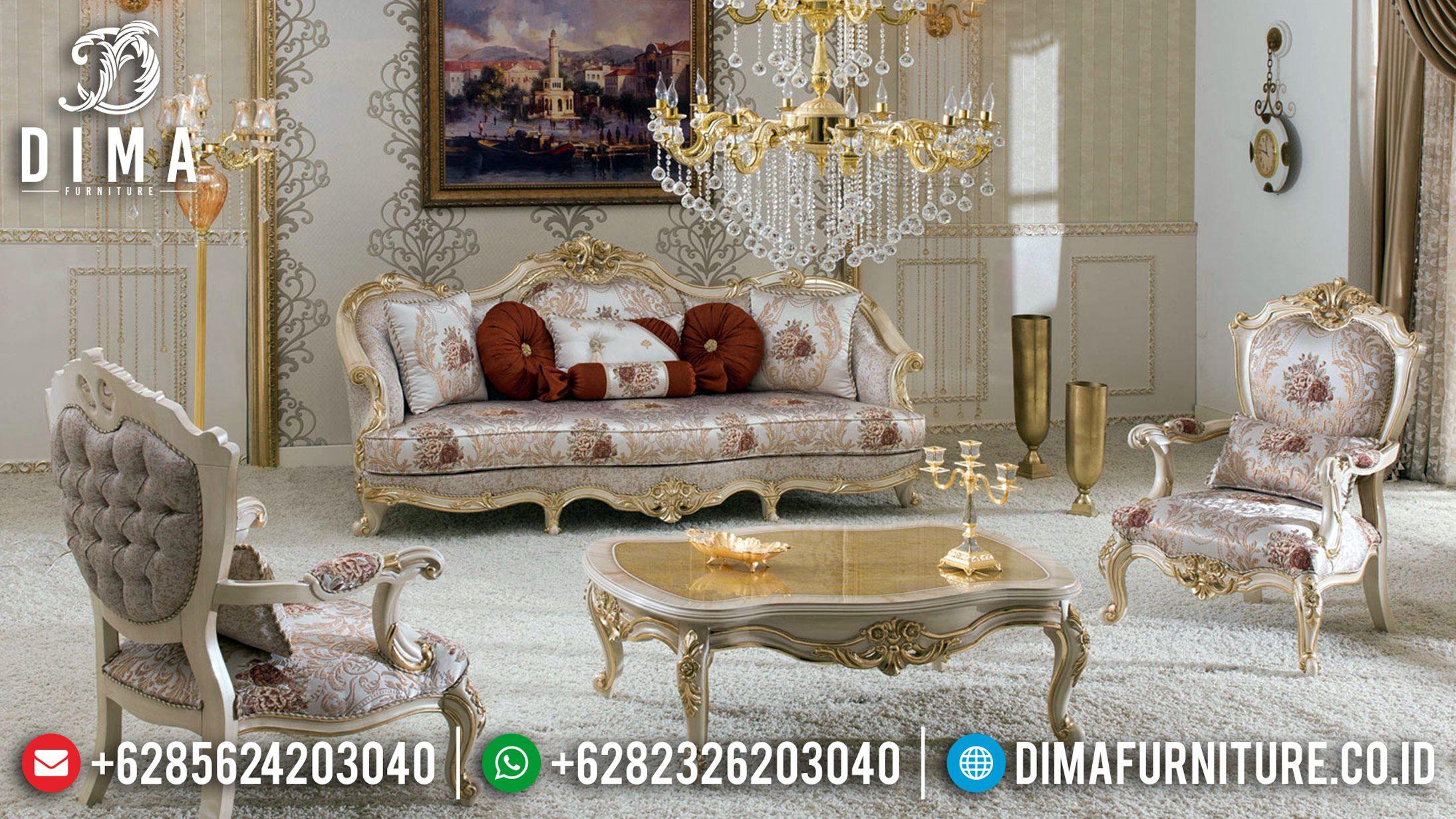 Kursi Sofa Tamu Mewah New Sofa Mewah Classic Kursi Tamu Jepara Gold Duco Df 1218 Luxury Furniture Sofa Modern Furniture Sofas Wooden Sofa Designs