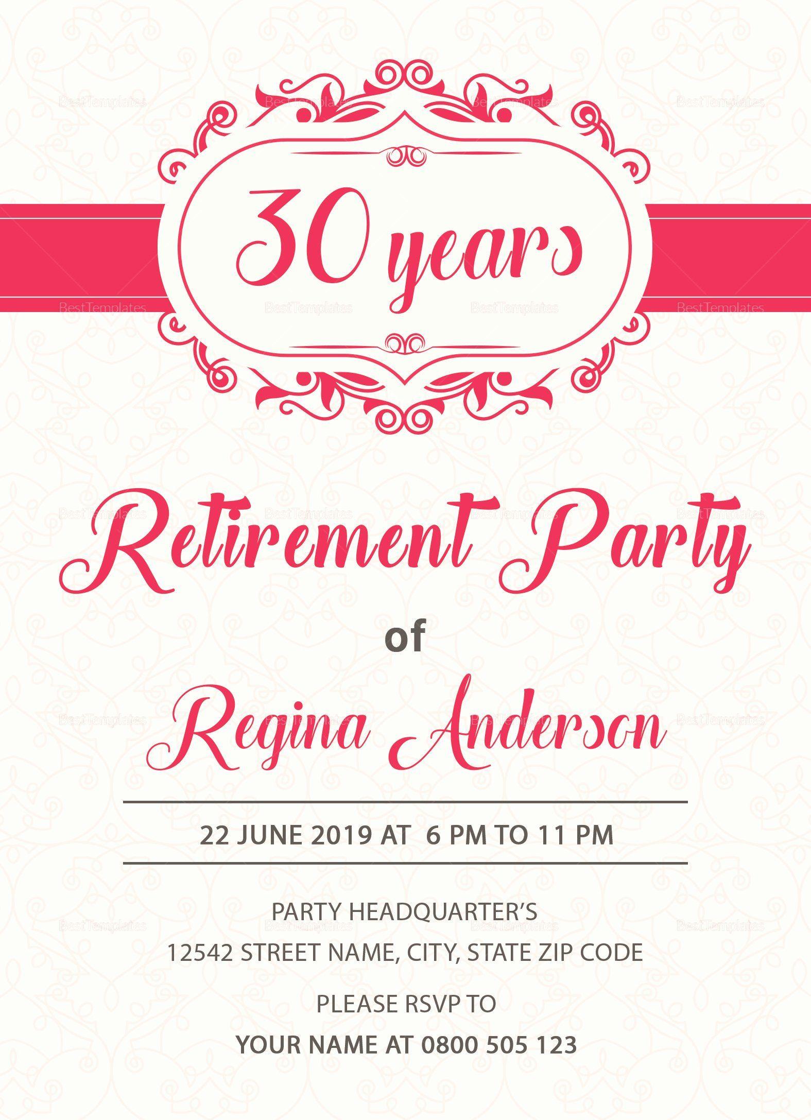 Retirement Party Invitation Templates Retirement Party Invitations Party Invite Template Retirement Invitation Template