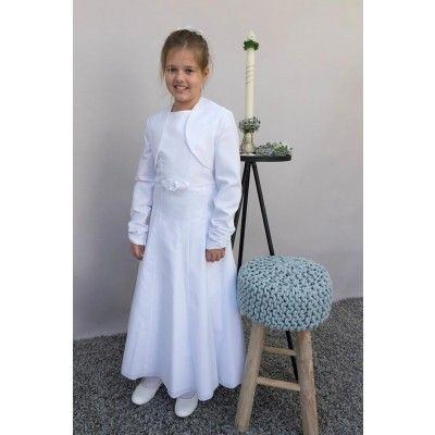 kommunionkleid weiß 2tlg  kommunion kleider festliche mode mode