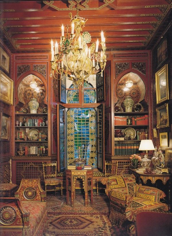 Ysl 39 s marrakech house villa oasis designed by bill for Victorian villa interior design