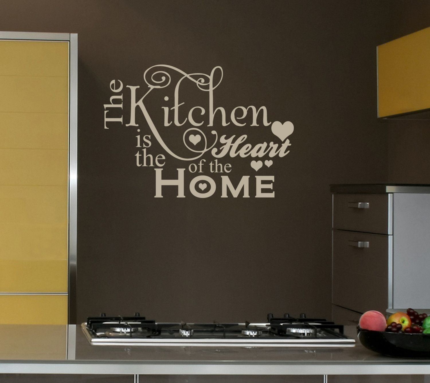X Kitchen Heart Home Decal Shabby Chic Decor Vinyl Wall - Vinyl decals for kitchen walls