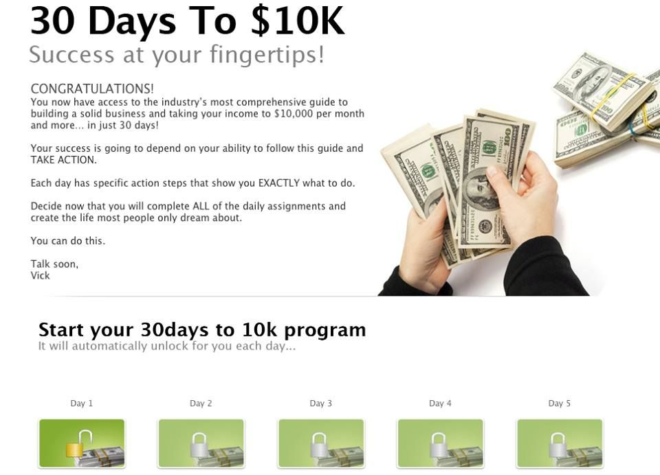 Imagine having an internet millionaire telling you exactly what you need to do each day to reach your money making goals!!  Make today Day 1... ;-)