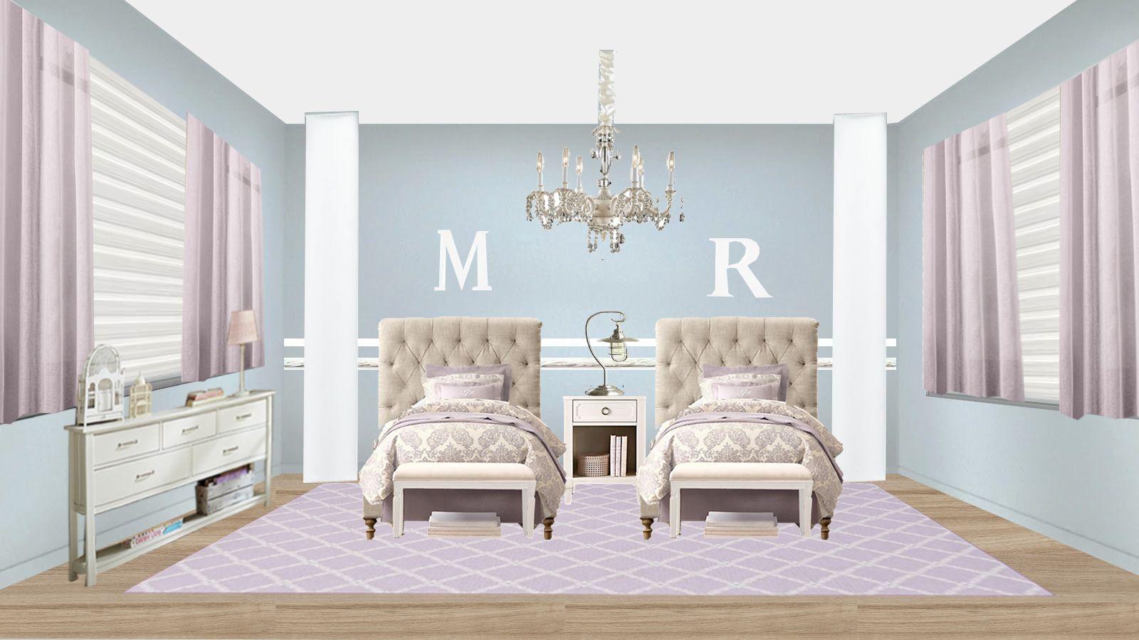 Best Lilac Grey Girl´s Bedroom Interior Design Interior Room 640 x 480