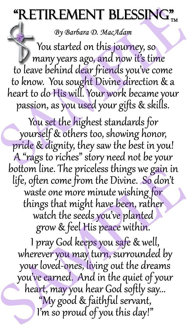 retirement blessing products i