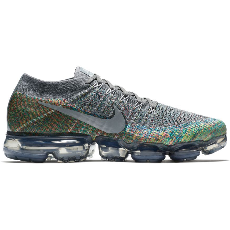 New Nike Air VaporMax in Dark Grey/Multicolor is available now at JackRabbit .com