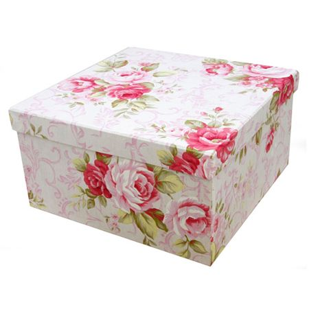 Fabric Keepsake Box With Lid · Fabric Storage BoxesFabric Covered ...