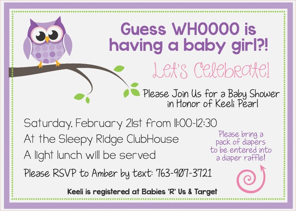 Free Printable Owl Ba Shower Invitations Other Owl Baby Shower