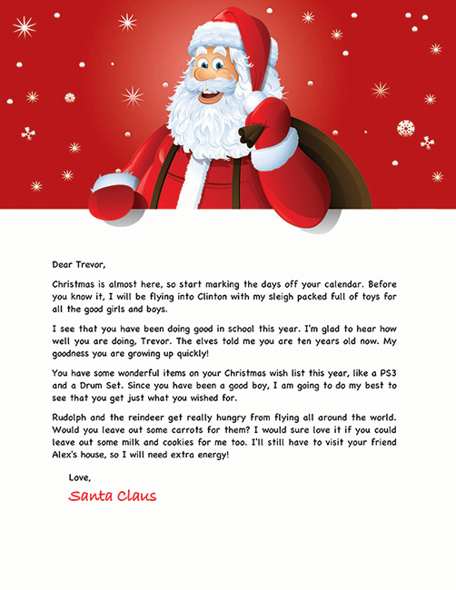 Santa letter template christmas ideas pinterest for Personalized letter from santa with reindeer food