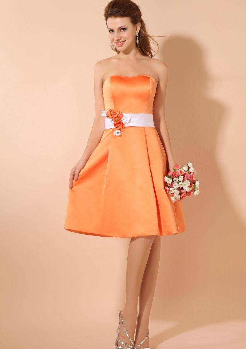Short orange bridesmaid dresses orange taffeta knee short short orange bridesmaid dresses orange taffeta knee short bridesmaid ombrellifo Image collections