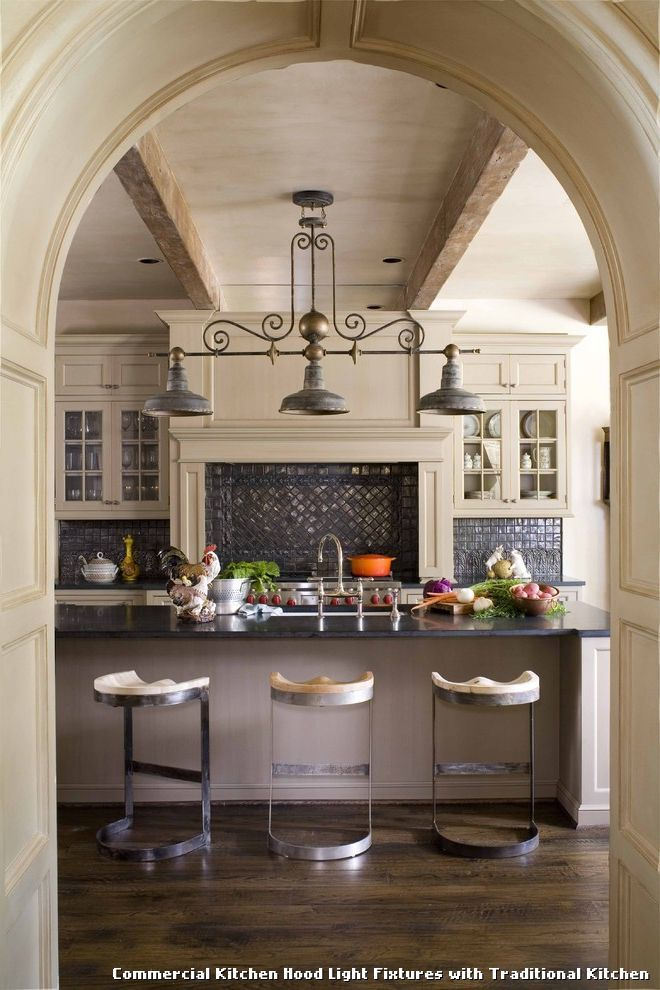 Commercial Kitchen Hood Light Fixtures With Traditional Kitchen - Kitchen hood light fixtures