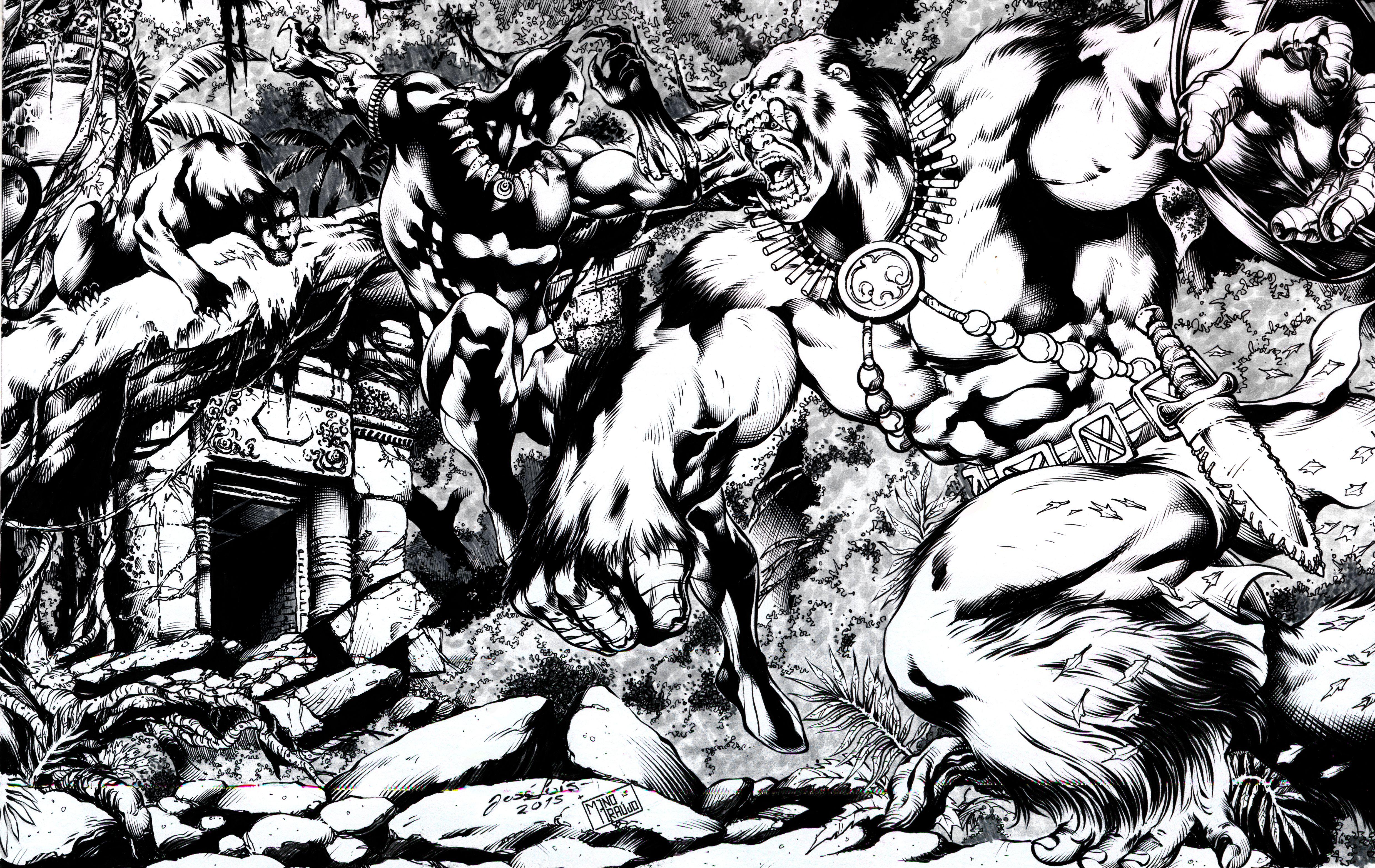 Black Panther By Portela On Deviantart: Black Panther Vs Man-Ape By ManoAraujo On DeviantArt