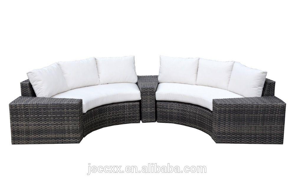 Círculo medio círculo sofá muebles de jardín al aire libre set ...