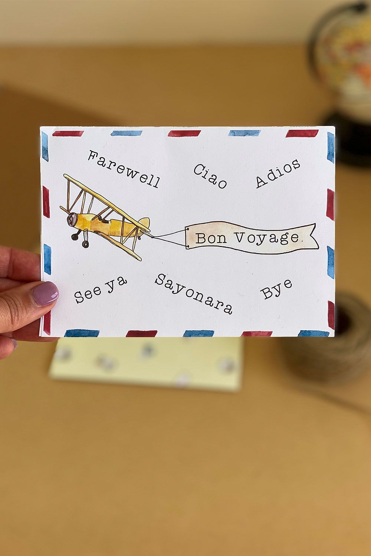 Printable Farewell Card Printable Goodbye Card How Lucky Am Etsy Farewell Cards Goodbye Cards Printable Cards