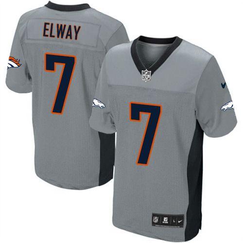 John Elway Elite Jersey 80 Off Nike John Elway Elite Jersey At Broncos Shop Elite Nike Men S John Elway Grey Shadow Jersey Den New England Patriots Nike Nfl