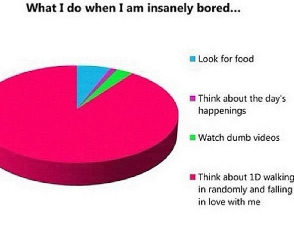 I Love Pie Charts One Direction Humor One Direction Memes I Love One Direction
