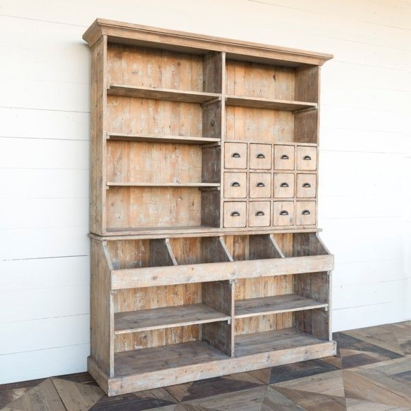 Old General Store Wooden Display Hutch In 2019