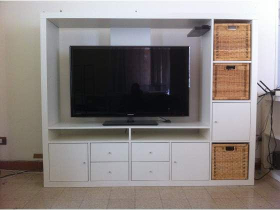 lappland tv unit 150 holds 55 tv minty colored drone bins