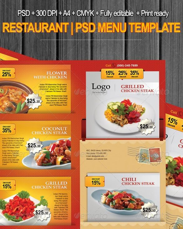 Free and Premium Food and Restaurant Menu Brochure Graphic - how to make a food menu on microsoft word