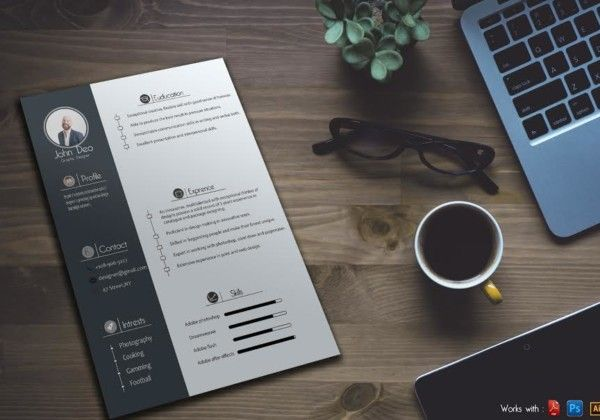 Free Graphic Designer Resume Template  Free Graphics