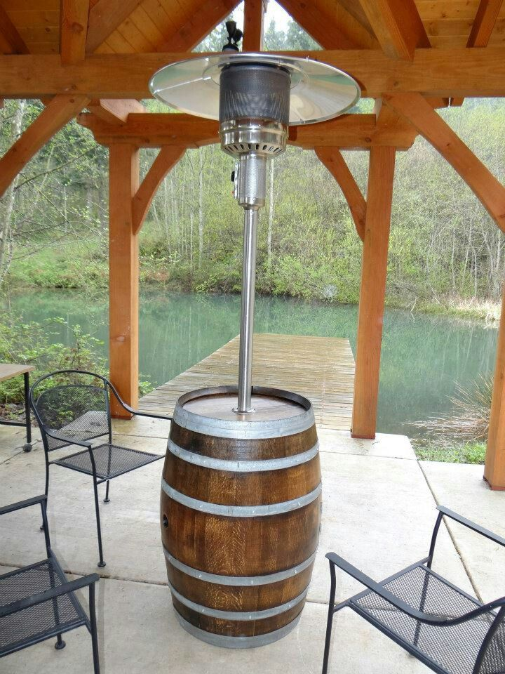 Http Www Modularhomepartsandaccessories Com Backyardheatingoptions Php Has Some Information On The Types Of Produ Patio Heater Wine Barrel Decor Barrel Decor