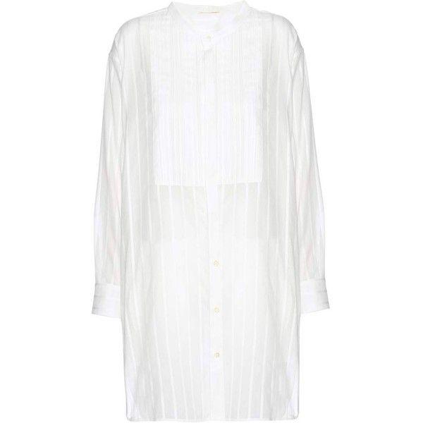 Striped cotton tunic dress Saint Laurent vDUVm