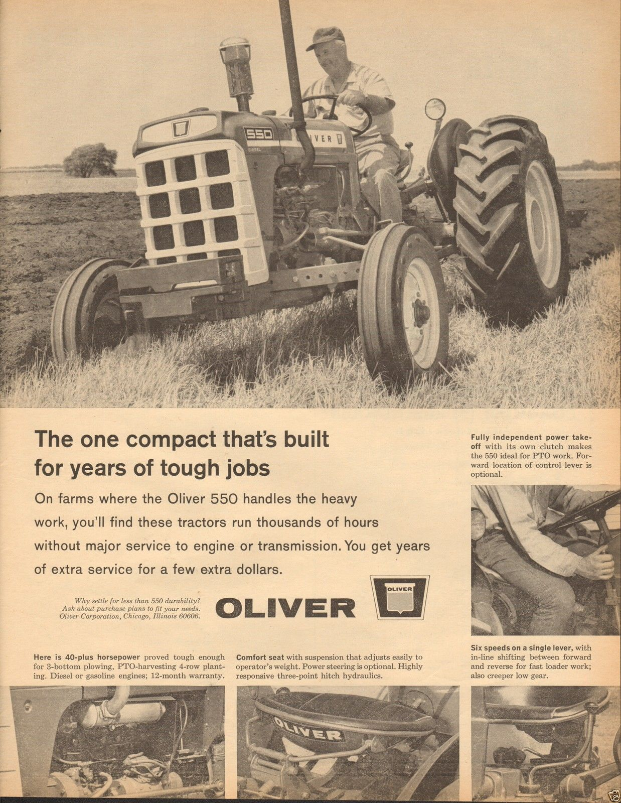 Oliver 550 Diesel Wiring Harness Wire Center Tractor Diagram 1965 Farm Large Magazine Ad Ebay Rh Pinterest Com On Craigslist Signs