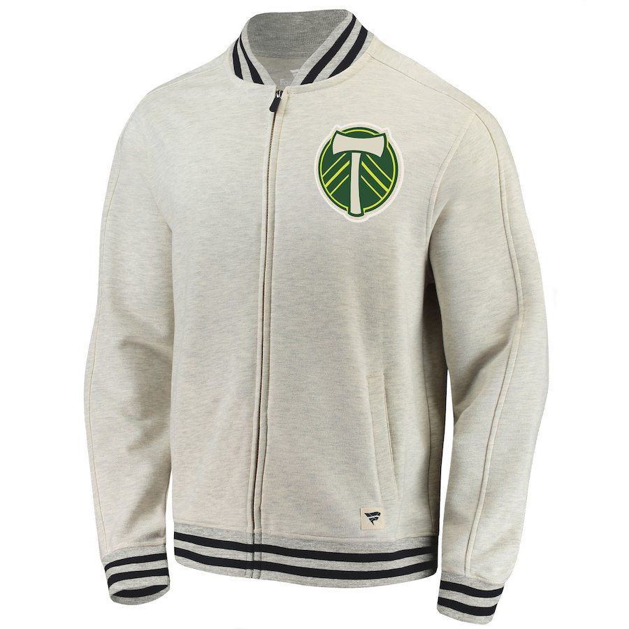 Portland Timbers Fanatics Branded Heritage Retro Full-Zip Track Jacket -  Cream Black sale online ... a76aa49c1