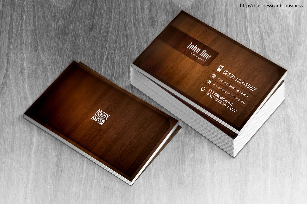 Free Wood Business Card Template - Business Cards Templates  Wood