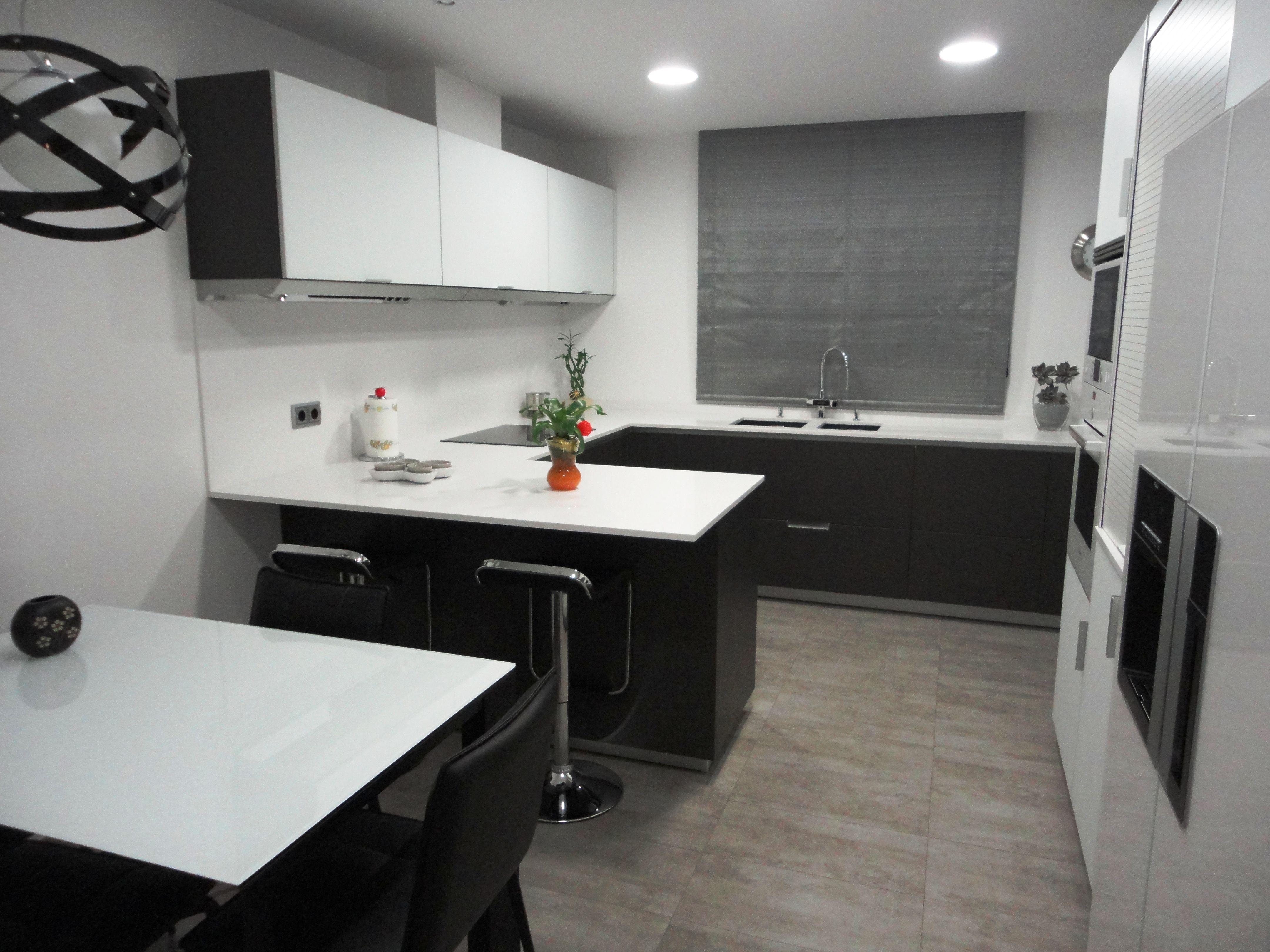 Reforma Cocina La Mobiliario Santos Modeo Minos Roble Grisaceo  # Muebles Vikingos La Serena