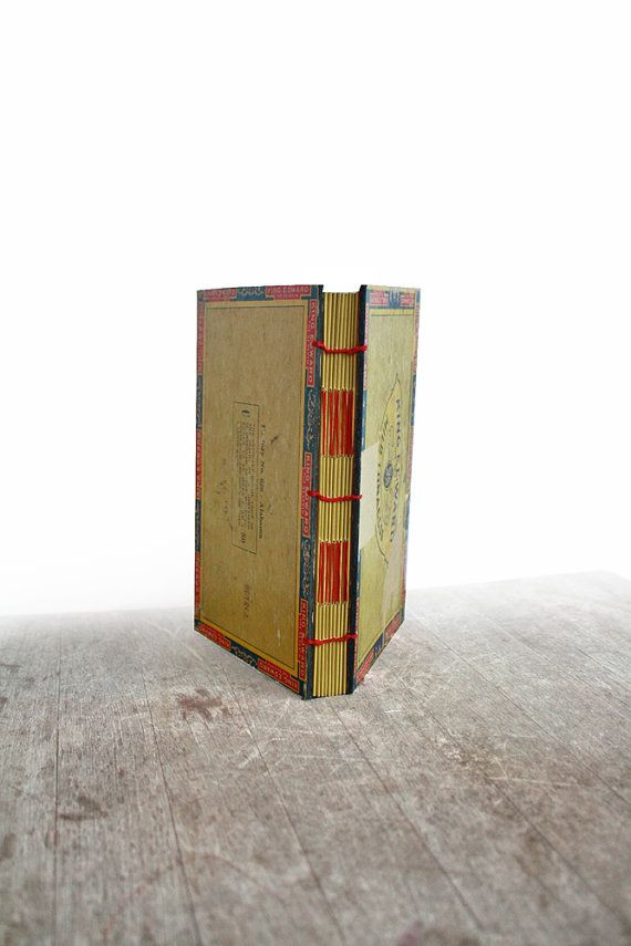 The Peaceable King  Large Handstitched Cigar Box Journal by odelae, $65.00