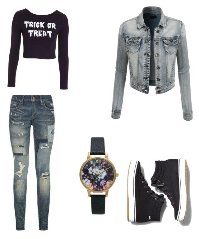 """"""""""" by gabrielle-dixon ❤ liked on Polyvore featuring Polo Ralph Lauren, LE3NO, Keds, Olivia Burton and Topshop"""