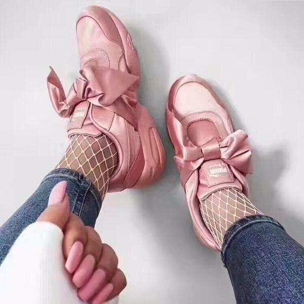 Fenty Puma Pink Bow Slip On Sneakers
